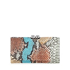 Star by Julien Macdonald - Designer grey rainbow snake large purse