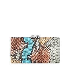 Star by Julien Macdonald - Designer grey rainbow snake large purse