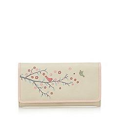 The Collection - Cream applique birds large purse