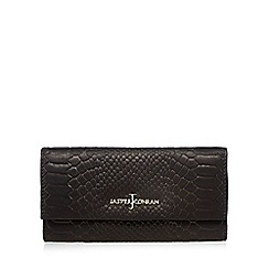 J by Jasper Conran - Designer black leather snakeskin large purse