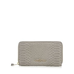 J by Jasper Conran - Designer grey leather mock snake purse