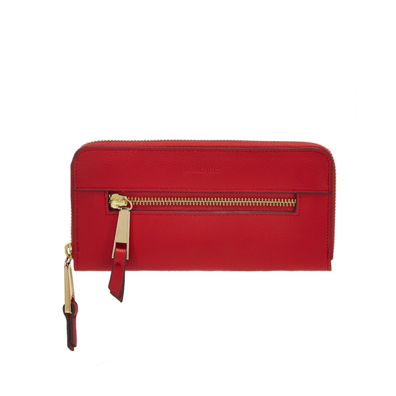 Principles Red Zip Front Large Purse - One Size - Purses (9028340 5045480473475) photo