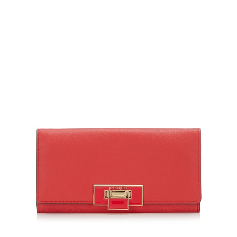 Principles Red Colour Block Large Purse - One Size - Purses - dark red (9028337 5045480473444) photo