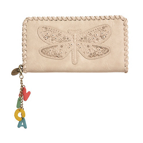 Nica - Off white 'dragonfly' purse