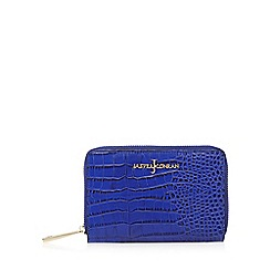 J by Jasper Conran - Bright blue croc textured medium purse