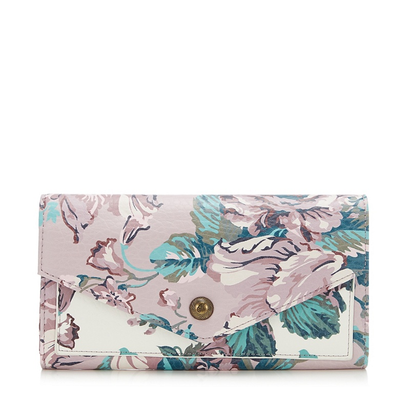 Mantaray Lilac Floral Large Flap Over Purse - One Size - Purses (9045074 5045480640822) photo