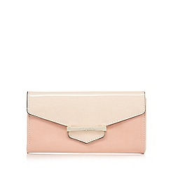 J by Jasper Conran - Light pink patent bar tab purse
