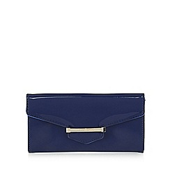 J by Jasper Conran - Designer blue patent bar tab purse