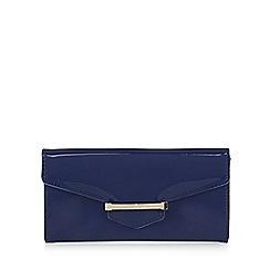 J by Jasper Conran - Designer blue patent bar tab purse
