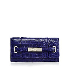 J by Jasper Conran - Blue leather mock croc large purse