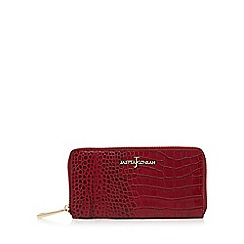 J by Jasper Conran - Red mock croc large zip around purse