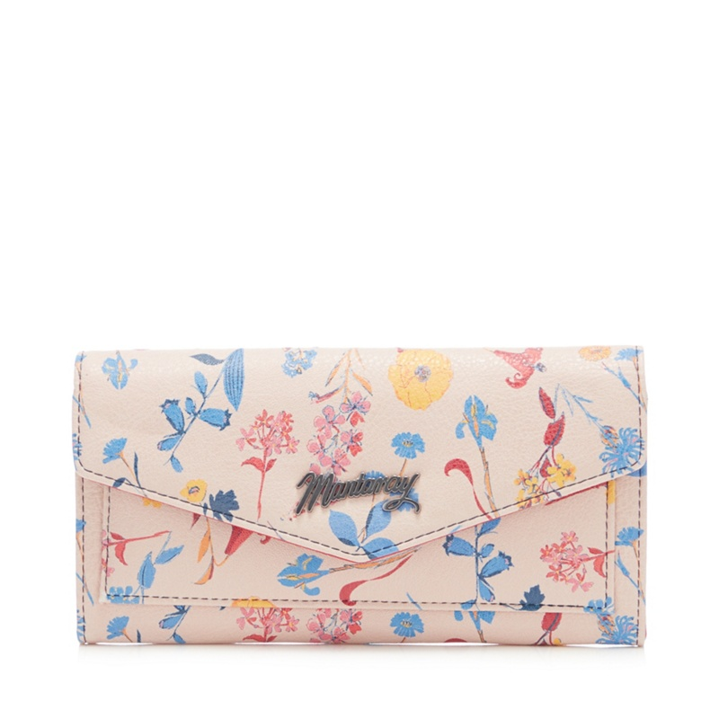 Mantaray Pink Floral Print Large Flap Over Purse - One Size - Purses (9045064 5045480640723) photo
