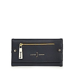 J by Jasper Conran - Navy zip flap over purse