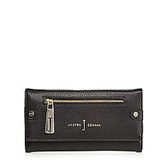 J by Jasper Conran - Black zip flap over purse