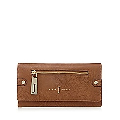 J by Jasper Conran - Designer tan zip flapover purse