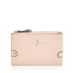 J by Jasper Conran - Light pink double zip fold over small purse