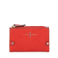 J by Jasper Conran - Red double zip fold over small purse