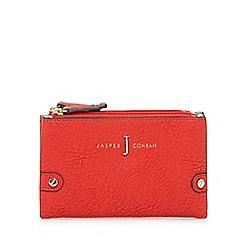 J by Jasper Conran - Red double zip fold over small purse