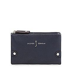 J by Jasper Conran - Designer navy textured double zip purse
