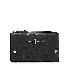 J by Jasper Conran - Designer black textured double zip purse