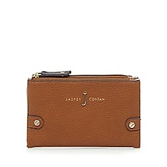 J by Jasper Conran - Tan double zip fold over small purse