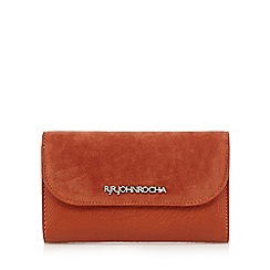 RJR.John Rocha - Designer orange medium suedette flapover purse