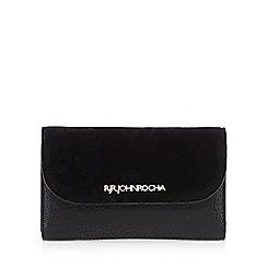 RJR.John Rocha - Designer black medium suedette flapover purse
