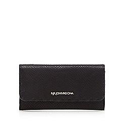 RJR.John Rocha - Designer black leather snakeskin fold over purse