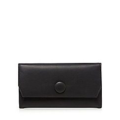 RJR.John Rocha - Black leather button fold over purse