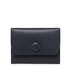 RJR.John Rocha - Navy leather button small fold over purse