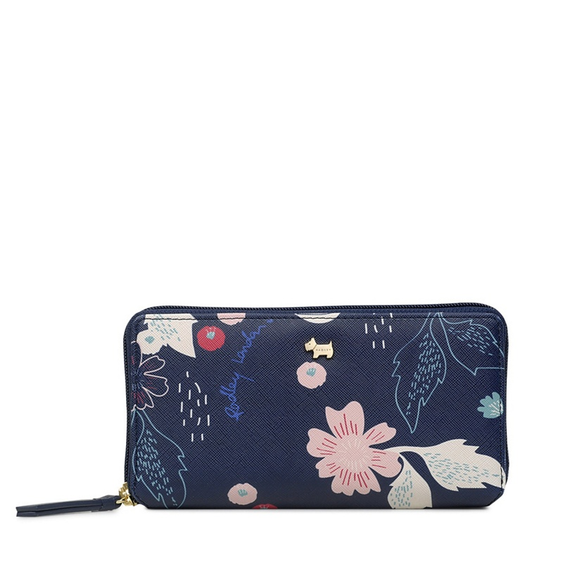 Radley Navy 'Painterly Floral' Large Matinee Purse - One Size - Purses (9086856 S1243401) photo