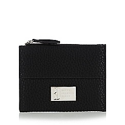 Betty Jackson.Black - Designer black pebble grain coin purse