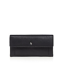 Betty Jackson.Black - Designer black leather front pocket purse