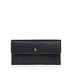 Betty Jackson.Black - Designer black leather front pocket purse