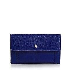 Betty Jackson.Black - Blue leather medium flap over purse
