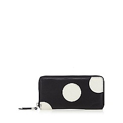 Betty Jackson.Black - Designer black leather spotted purse