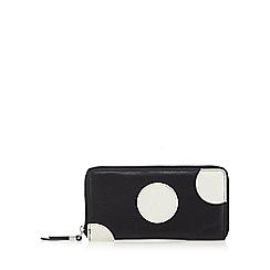 Betty Jackson.Black - Designer black leather spotted purse