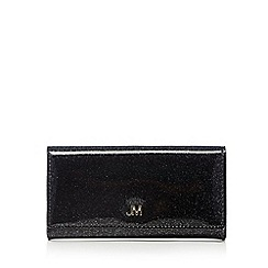 Star by Julien MacDonald - Designer black patent glitter large purse