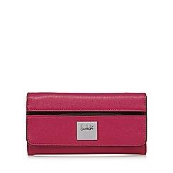 Principles by Ben de Lisi - Designer pink logo plate large purse