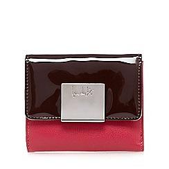 Principles by Ben de Lisi - Designer pink logo plate patent medium purse