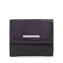 Principles by Ben de Lisi - Black patent fold over purse