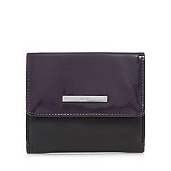 Principles by Ben de Lisi - Black patent fold over purse
