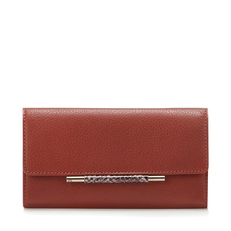 J by Jasper Conran Dark Orange Leather Purse In A Gift Box - One Size - Purses (9101740 5045481209783) photo