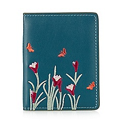 The Collection - Turquoise butterfly travel card holder