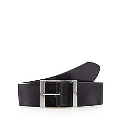The Collection - Black PU chunky buckle belt