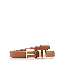 The Collection - Tan double metal keeper belt