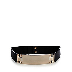 The Collection - Black metal bar waist belt