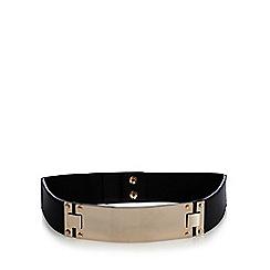 The Collection - Black metal bar waist belt