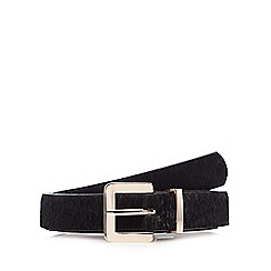 The Collection - Black faux pony hair belt