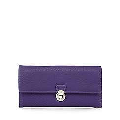 The Collection - Purple push lock large purse